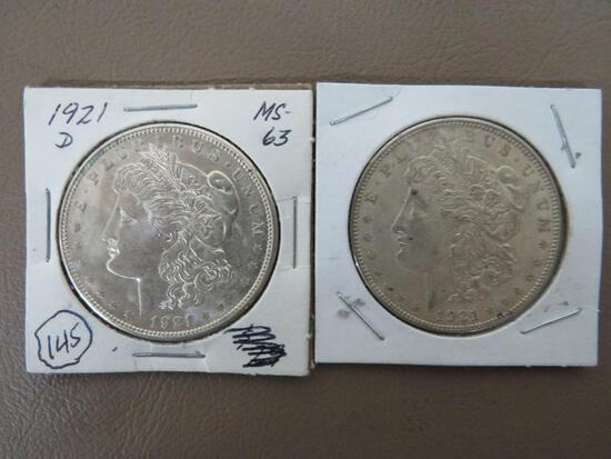 1921 Morgan Dollar Coins