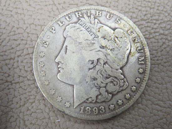 1893 Carson City Morgan Silver Dollar Coin