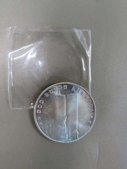 Twin Towers .999 Silver Coin
