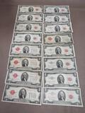 Red Seal 2 Dollar Bills