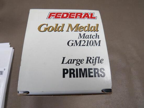 Federal Gold Medal Match Large Rifle Primers NO SHIPPING