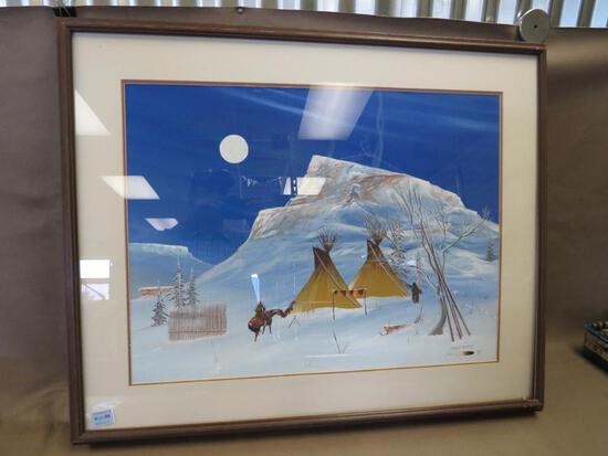 Robert Redbird Artist Signed Native Artwork