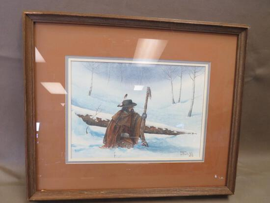 Robert Blair Artist Signed Western Artwork