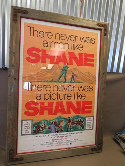 1959 Framed Shane Movie Poster