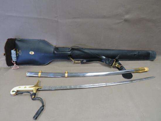 USMC Officers Sword With Case