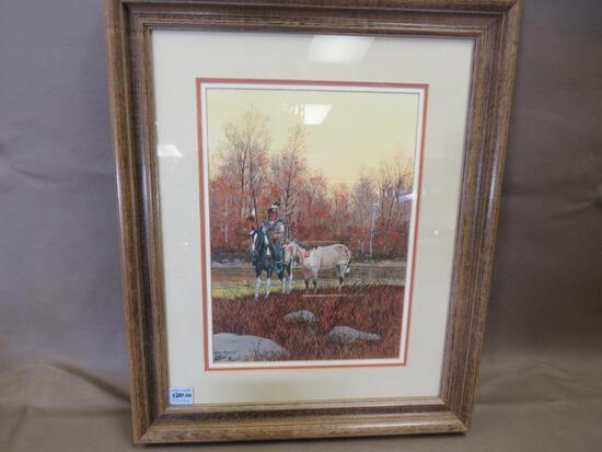 """Ron Stewart Artist Signed """"War Ponies"""" Artwork"""