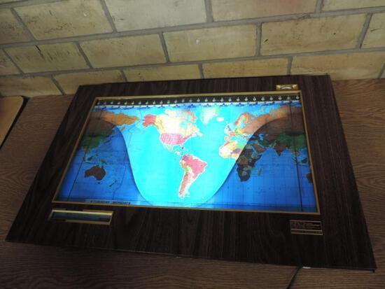 Vintage Kilburg Geochron World Clock