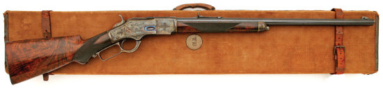 Rare Winchester Model 1873 Factory Engraved Rifle Made For the Paris Exhibition of 1889