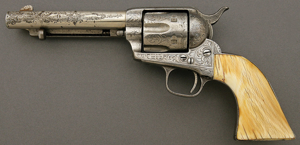 Engraved Colt Single Action Army Revolver