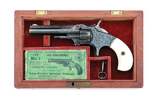 Wonderful Gustave Young Engraved Smith & Wesson No. 1 Third Issue Revolver