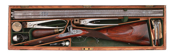 Exceptional Charles Lancaster Dangerous Game Percussion Double Rifle
