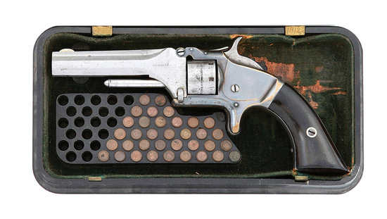 Smith & Wesson No. 1 Second Issue 2D Quality Revolver with Gutta Percha Case