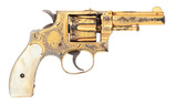 Attractive Gold-Plated & Engraved Smith & Wesson 32 DA First Model Hand Ejector Revolver