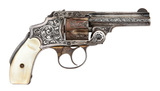 Very Fine Silver-Plated & Engraved Smith & Wesson 38 Safety Hammerless Third Model DA Revolver