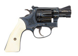 Lovely Engraved & Gold Inlaid Smith & Wesson Model 34-1 Kit Gun Revolver