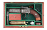 Cased British Percussion Pepperbox Pistol