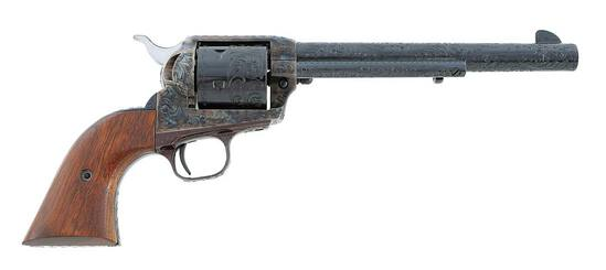 Colt Factory Engraved Third Generation Single Action Army Revolver