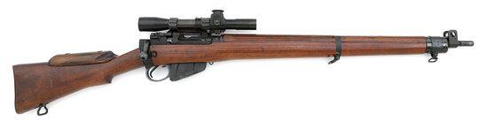 British No. 4 MKI (T) Bolt Action Sniper Rifle by BSA