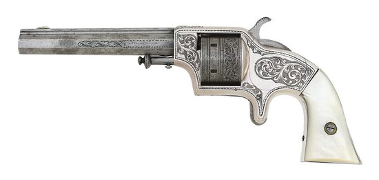 Attractive Cased & Engraved Plant's Manufacturing Co. Third Model Front-Loading Army Revolver