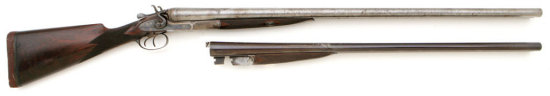 Tremendous W & C Scott & Sons 8 Bore Double Hammer Shotgun With Extra 10 Bore Barrels