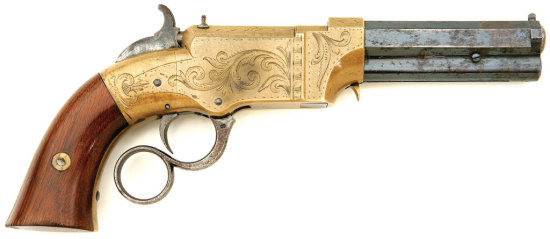 Engraved Volcanic Lever Action No. 1 Pocket Pistol By New Haven Arms Company