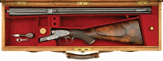 Fine British Sidelock Double Ejector Rifle By Henry Atkin