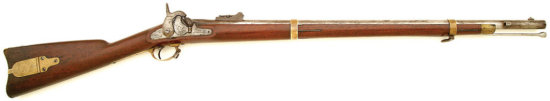 Rare Brass Mounted U.S. Model 1855 Percussion Rifle By Harpers Ferry