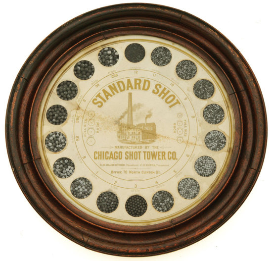 Fine Standard Shot Powder Display By The Chicago Shot Tower Company