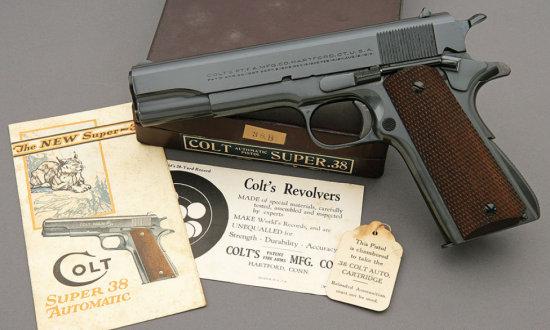 Stunning Colt Pre-War Super 38 Automatic Pistol