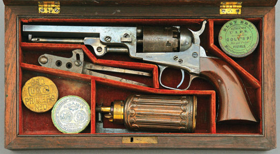 Rare Transitional Cased London Colt Model 1849 Pocket Revolver