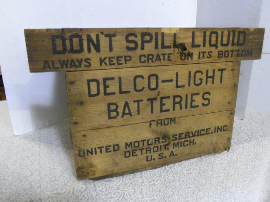 DELCO -LIGHT BATTERIES BOX