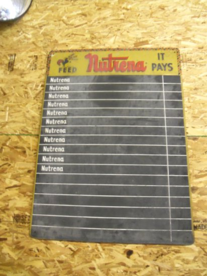 NUTRENA FEED SIGN / CHALK BOARD