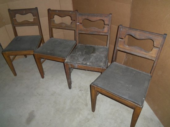 (4) WOOD CHAIRS [SOLD By SEARS & ROEBUCK]