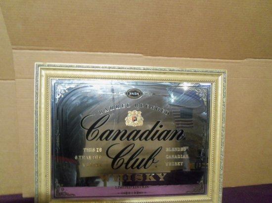 """""""CANADIAN CLUB""""  SIGN/MIRROR"""