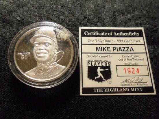 """Mike Piazza"" Commemorative  Medalion"