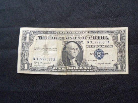 """""""1957 B """" $1 SILVER CERTIFICATE"""