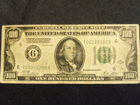 1928  $100 BILL