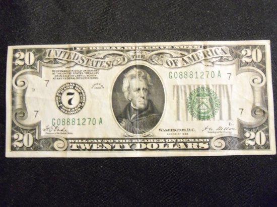 1928    $20 BILL