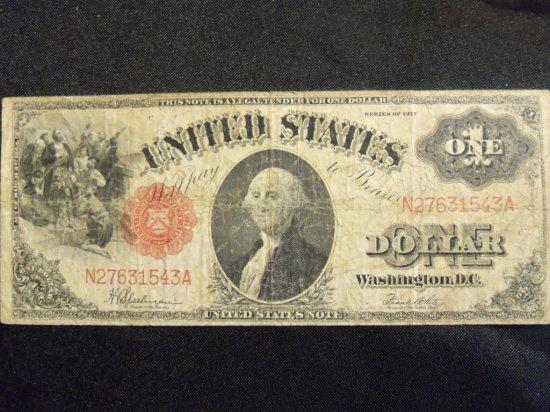 1917 $1  U.S. NOTE