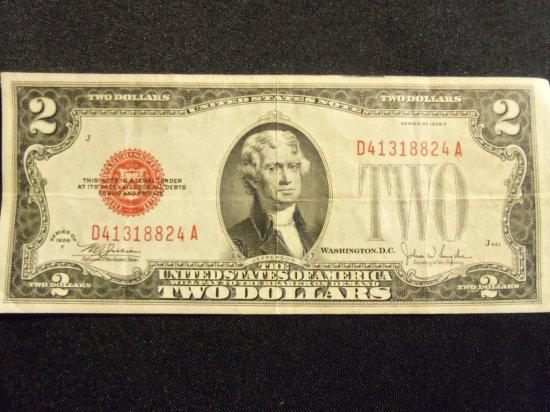 1928 F   $2   BILL