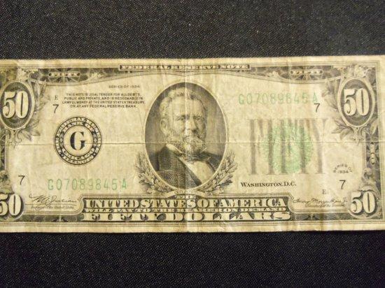 1934  $50  BILL