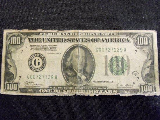 1928 A  $100 BILL