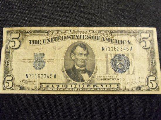 1934 C  $5  BILL