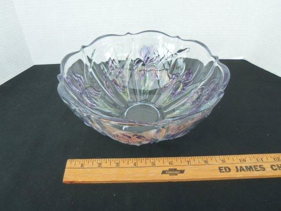 """IRIS ""pattern glass bowl"