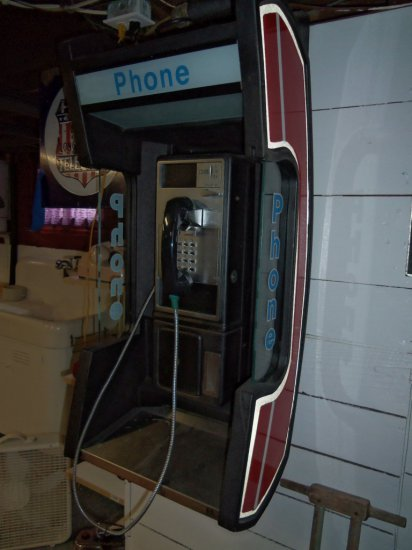 WALL HUNG PAY PHONE IN RECEIVER STYLE CASE