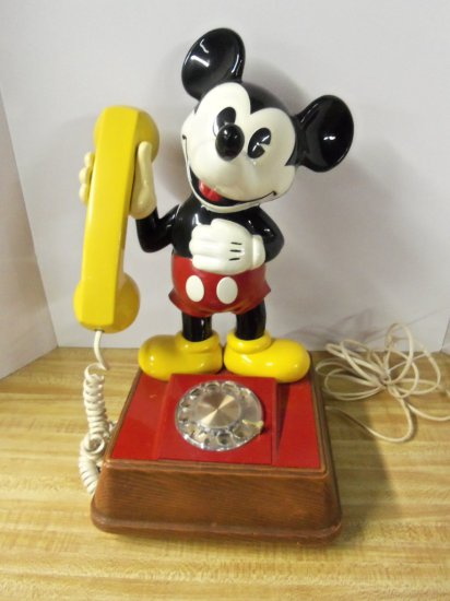 """""""MICKEY MOUSE """" ROTARY DESK PHONE"""