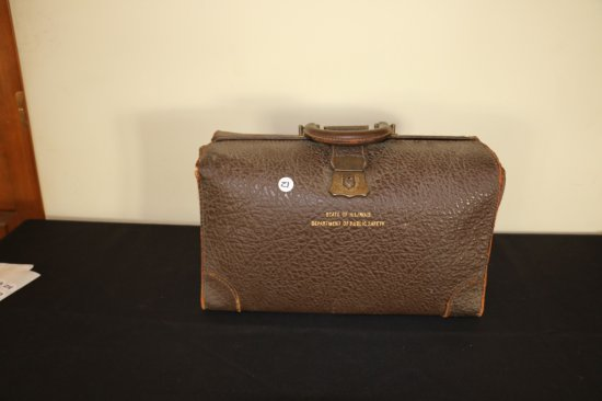 """VINTAGE """" STATE OF ILLINOIS DEPT. OF PUBLIC SAFETY """" BRIEFCASE"""