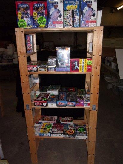 Shelf and Baseball Cards