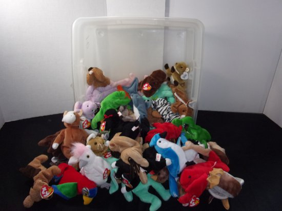Large Group of Beanie Babies