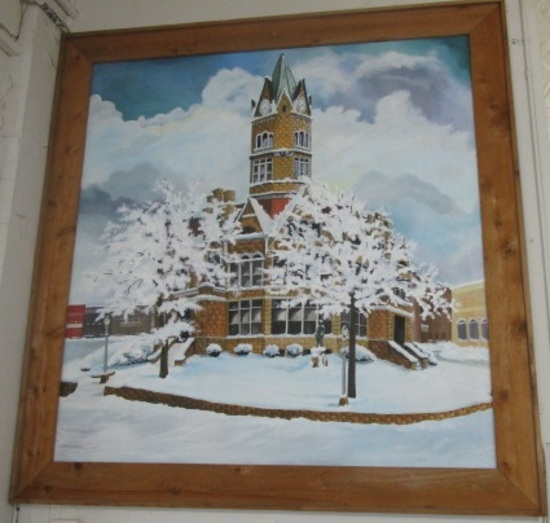 Clinton Courthouse Painting